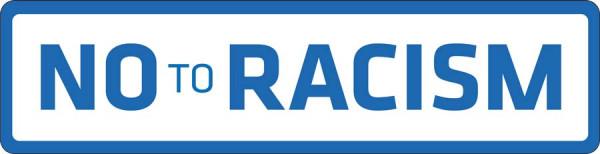 No to Racism Schriftzug auf Trikot